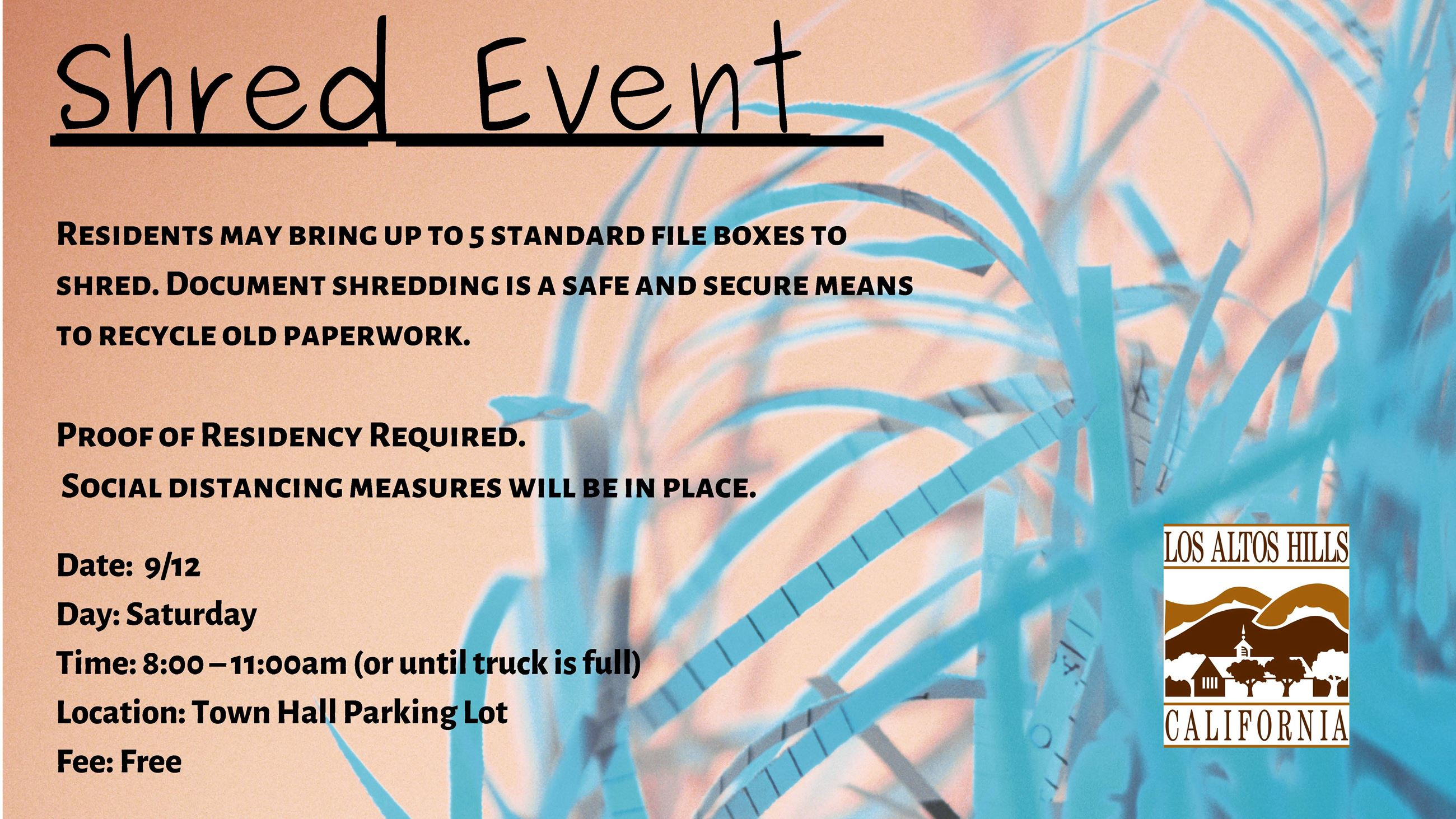 Fall Shred Event Flyer