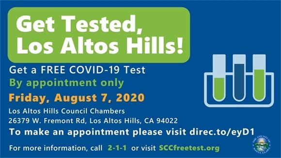 Get Tested, Los Altos Hills!